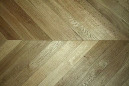 Prime Engineered Oak Chevron Smoked Brushed UV Oiled 15/4mm By 90mm By 850mm