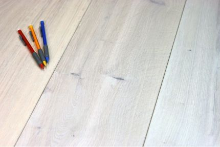 Natural Engineered Flooring Oak Bespoke Snow White Hardwax Oiled 15/3mm By 180mm By 1500-2400mm