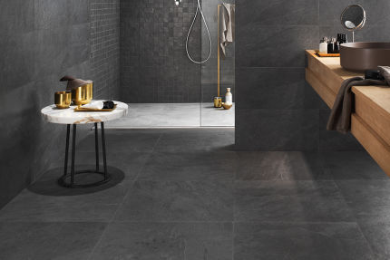 Porcelain Tile Minerva Black 600mm By 1200mm