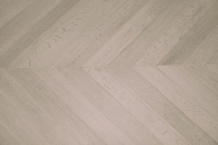 Prime Engineered Flooring Oak Chevron Sunny White Brushed UV Oiled 15/4mm By 90mm By 610mm