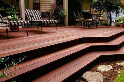 Red Balau Hardwood Decking Boards Using Hidden Fixing 19mm By 140mm By 3353-3658mm