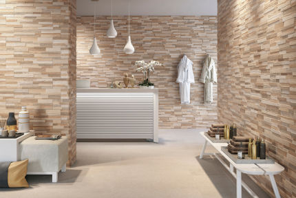 Porcelain Stoneware Wall Art Beige 150mm By 610mm