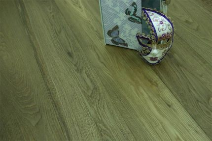 Select Engineered Flooring Oak Click Dark Smoked Brushed UV Oiled 14/3mm By 190mm By 1900mm