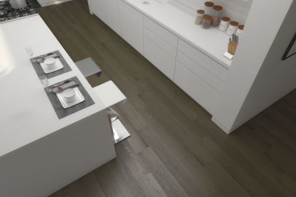 Select Engineered Flooring Oak Click Light Grey Brushed UV Lacquered 14/3mm By 190mm By 1900mm