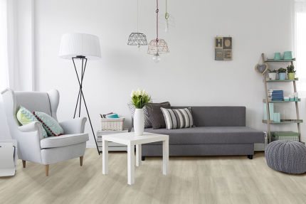 Luxury Click Vinyl Flooring London White 5mm By 169mm By 1210mm