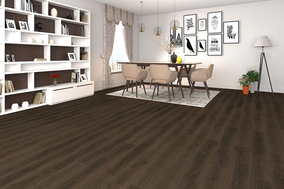 Dark Caramel Oak Laminate Flooring 8mm By 195mm By 1380mm