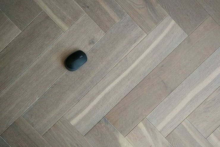 Natural Engineered Flooring Oak Bespoke Herringbone Silver Tiger Hardwax Oiled 16/4mm By 120mm By 580mm
