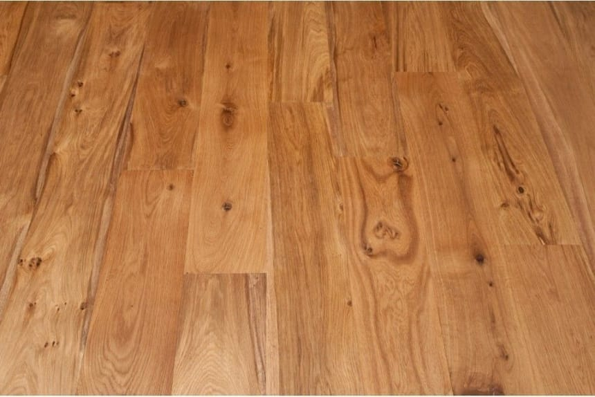 Natural Engineered Flooring Oak Brushed UV Oiled 15/4mm By 260mm By 2200mm