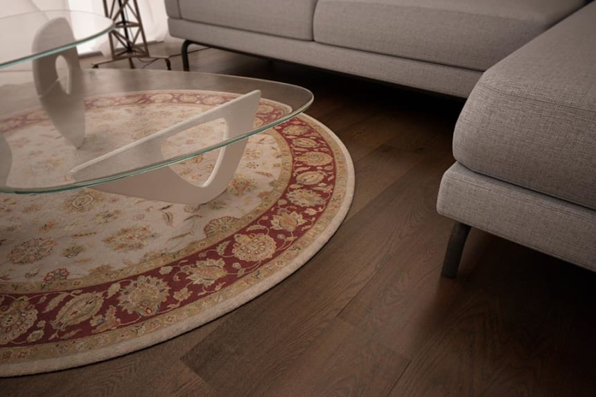 Prime Engineered Oak Coffee Brushed UV Oiled 14/3mm By 190mm By 1900mm