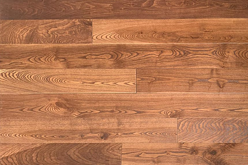 Natural Solid Flooring Ash Cappuccino Brushed UV Lacquered 20mm By 160mm By 500-2200mm
