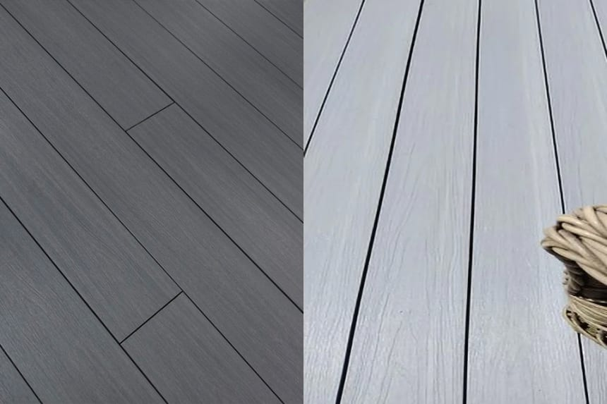 Supremo WPC Double Face Composite Decking Boards Patina & Bazelet 23mm By 135mm By 2400mm