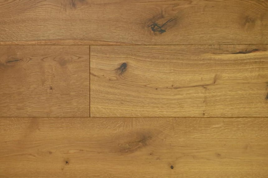 Natural Engineered Flooring Oak Light Smoked Brushed UV Oiled 15/4mm By 190mm By 1900mm