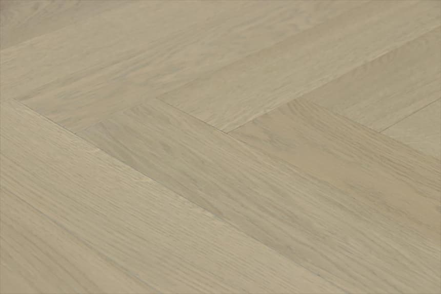 Prime Engineered Flooring Oak Herringbone Vienna Brushed UV Matt Lacquered 14/3mm By 98mm By 588mm