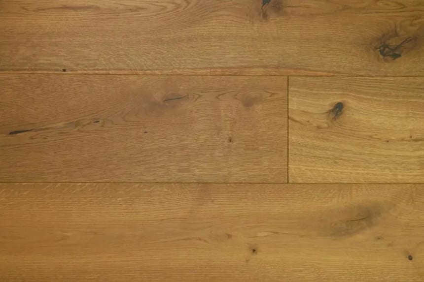 Natural Engineered Flooring Oak Dark Smoked Brushed UV Oiled 14/3mm By 220mm By 1900mm