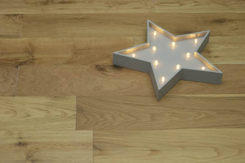 Natural Engineered Oak UV Lacquered 14/3mm By 150mm By 400-1500mm