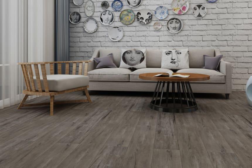 Luxury Click Vinyl Rigid Core Flooring Cliff 4.2mm By 182mm By 1220mm