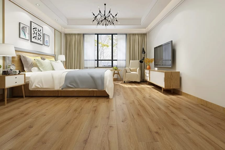 Luxury Click Vinyl Rigid Core IXPE Flooring Nature 5mm By 178mm By 1220mm