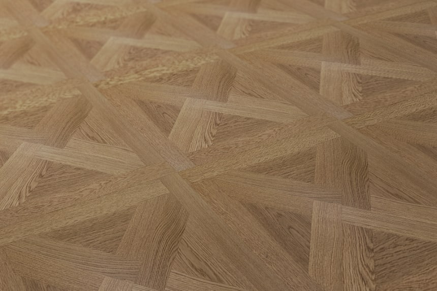 Prime Engineered Flooring Versailles Oak M112 UV Lacquered 15/3.3mm By 600mm By 600mm