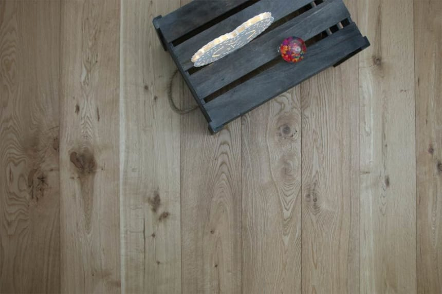 Natural Engineered Flooring Oak Brushed UV Oiled 14/3mm By 190mm By 1900mm