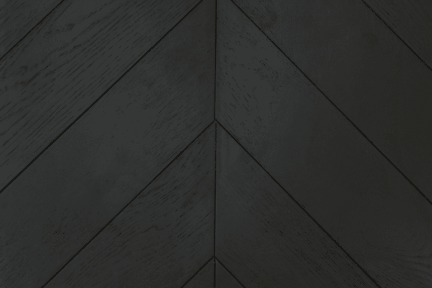 Natural Engineered Flooring Oak Chevron Jet Black Brushed UV Matt Lacquered 15/4mm By 120mm By 600mm
