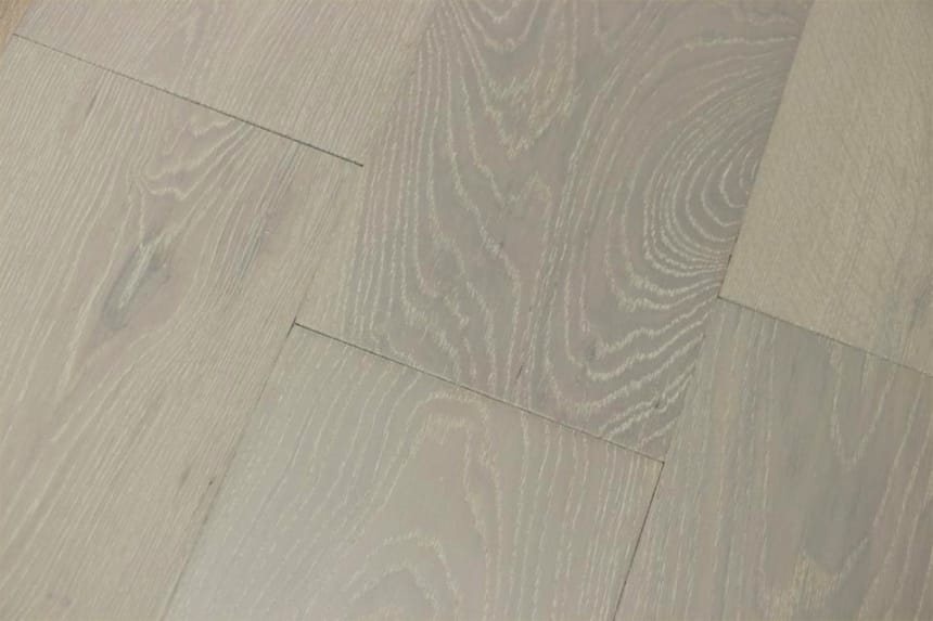 Natural Engineered Flooring Oak Double White Brushed UV Oiled 15/4mm By 190mm By 1900mm