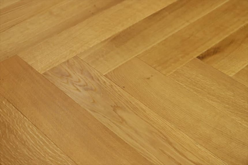 Natural Engineered Flooring Oak Herringbone Brushed UV Oiled 14/3mm By 120mm By 600mm