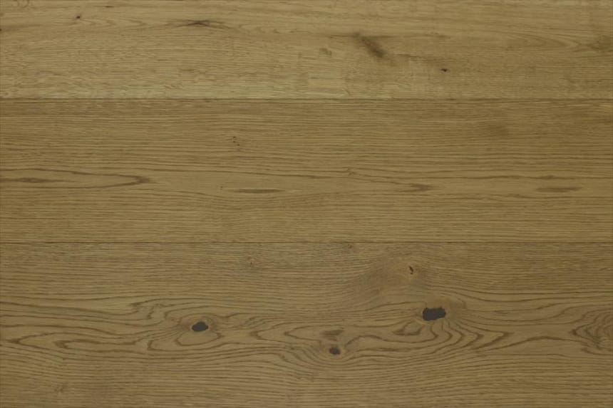Natural Engineered Flooring Oak Medium Smoked Brushed UV Oiled 15/4mm By 200mm By 1100-2200mm