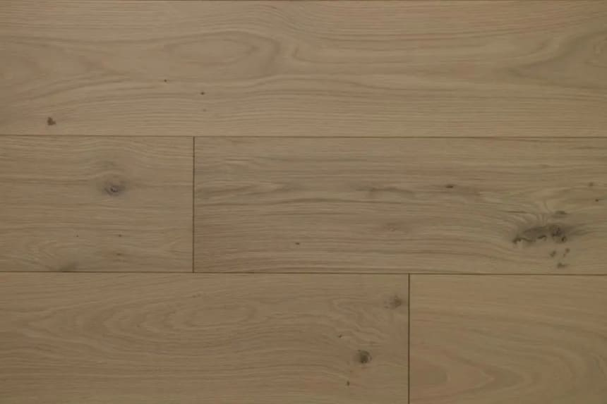 Natural Engineered Flooring Oak Non Visible Brushed UV Oiled 14/3mm By 190mm By 400-1500mm