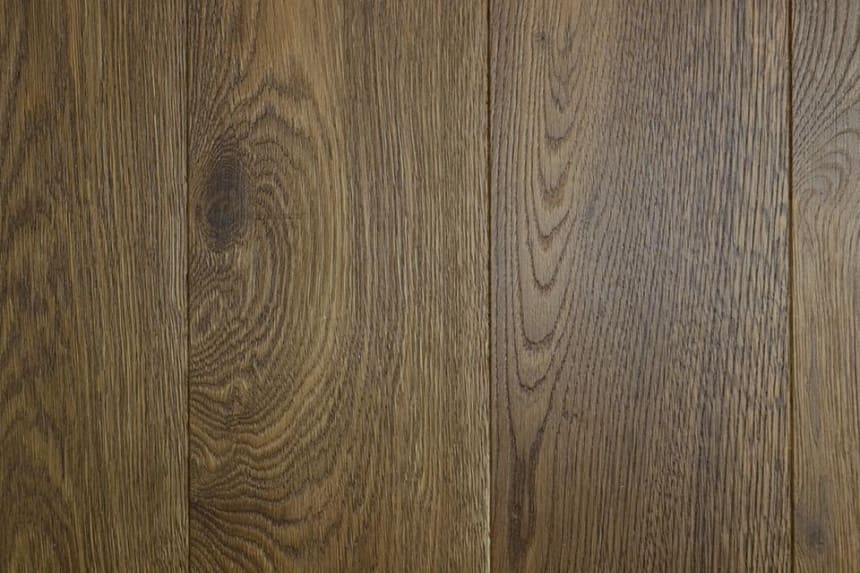Natural Engineered Flooring Oak Bespoke River Brushed UV Lacquered 16/4mm By 180mm By 1500-2400mm