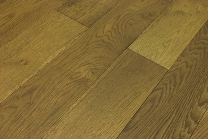 Natural Engineered Flooring Oak Smoked Stained Brushed UV Oiled 14/3mm By 150mm By 400-1500mm
