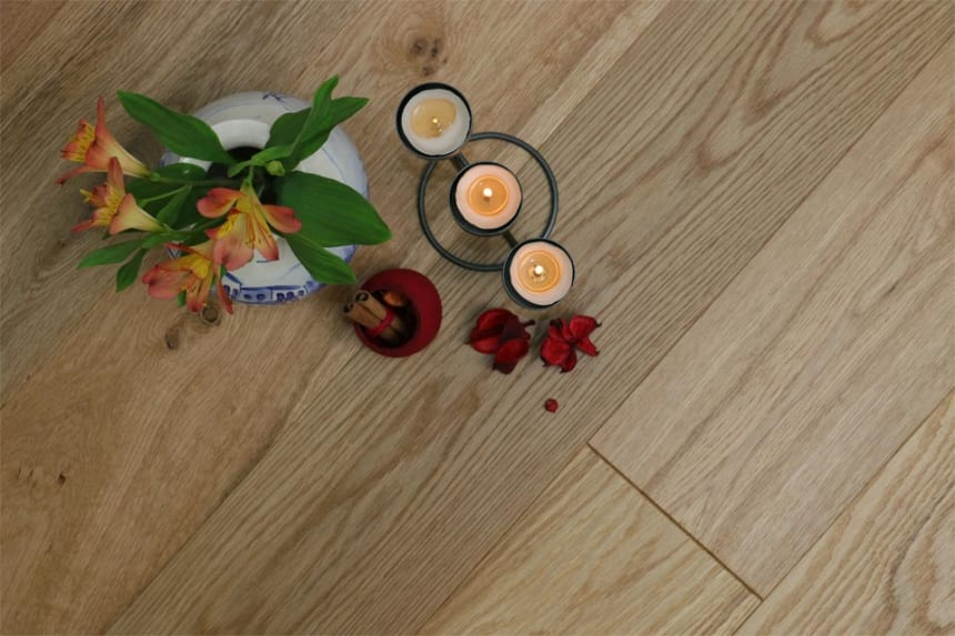 Natural Engineered Oak Brushed UV Oiled 20/6mm By 180mm By 1900mm