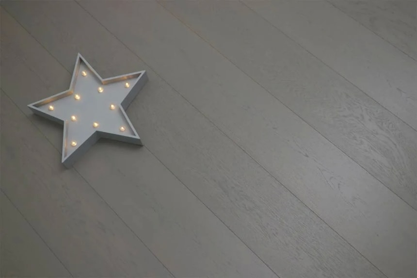 Prime Engineered Flooring Oak Summer Grey Brushed UV Oiled 15/4mm By 190mm By 1900mm