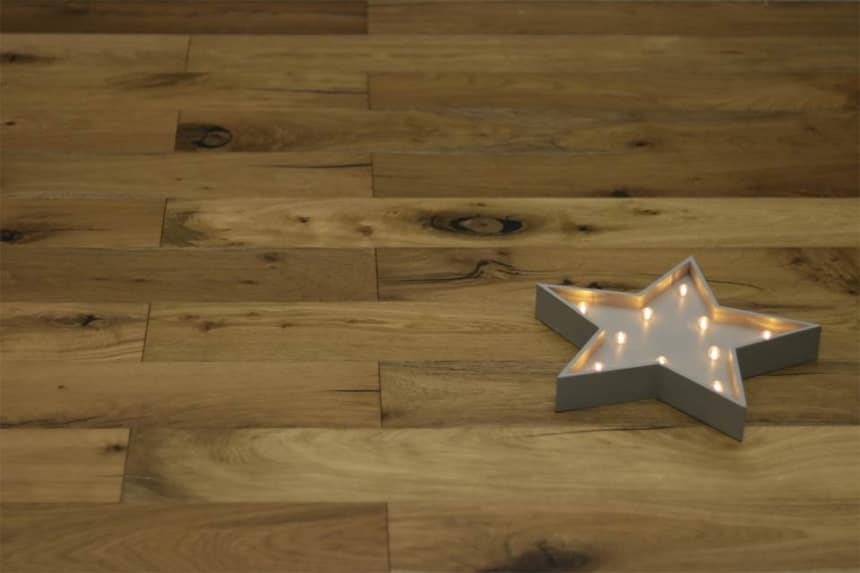 Rustic Engineered Flooring Oak Smoked Brushed UV Oiled 10/3mm By 150mm By 600-1200mm