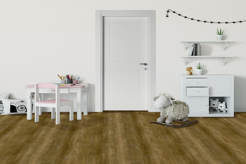 Luxury Click Vinyl Flooring Light Smoked 5mm By 169mm By 1210mm