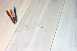 Natural Engineered Flooring Oak Snow White Hardwax Oiled 16/4mm By 220mm By 1700-2400mm