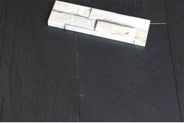 Select Engineered Oak Jet Black Brushed UV Lacquered 14/3mm By 190mm By 1900mm