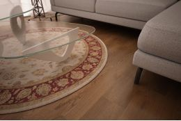 Select Engineered Oak Smoked Brushed Uv Oiled 14/3mm By 190mm By 1900mm