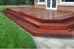 Ipe Hardwood Decking Boards Using Hidden Fixing 21mm By 140mm By 3350-3660mm