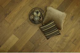 Natural Engineered Oak Smoked Brushed Oiled 20/6mm By 180mm By 1900mm