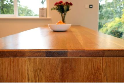 Full Stave Premium Oak Worktop 38mm By 620mm By 1950mm