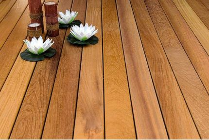 Iroko Hardwood Decking Boards Using Hidden Fixing 21mm By 95mm By 3850-4650mm