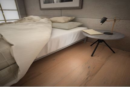 Natural Engineered Oak Polar White Brushed UV Lacquered 14/2.5mm By 189mm By 1860mm