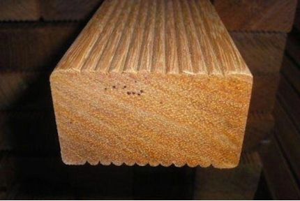 Red Balau Hardwood Decking Joists 45mm By 70mm By 2900mm