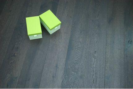 Rustic Engineered Flooring Oak Click Vintage Black Tea UV Oiled 14/3mm By 190mm By 1900mm