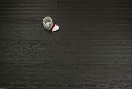 Select Engineered Oak Smoked Reclaim Black UV Oiled 14/3mm By 190mm By 1900mm