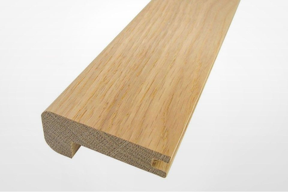 Solid Oak Stair Nosing Grooved 60mm By 25mm By 1000mm