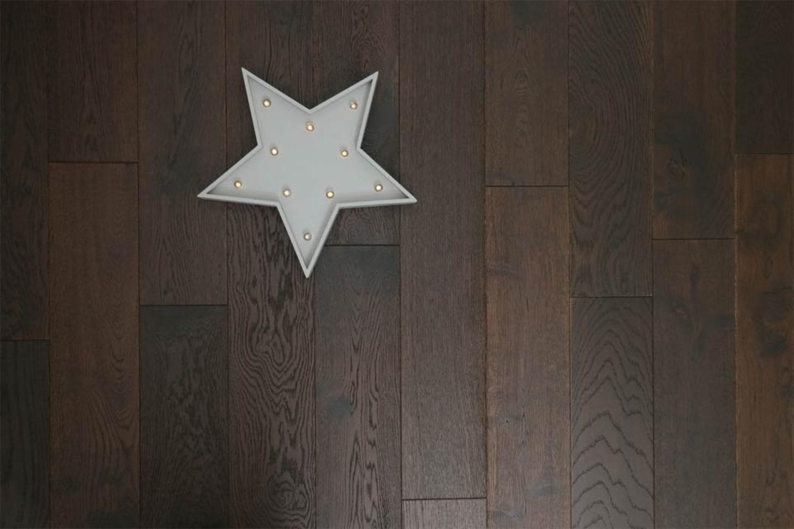 Natural Engineered Flooring Oak Black Tea Brushed UV Oiled 14/3mm By 150mm By 400-1500mm
