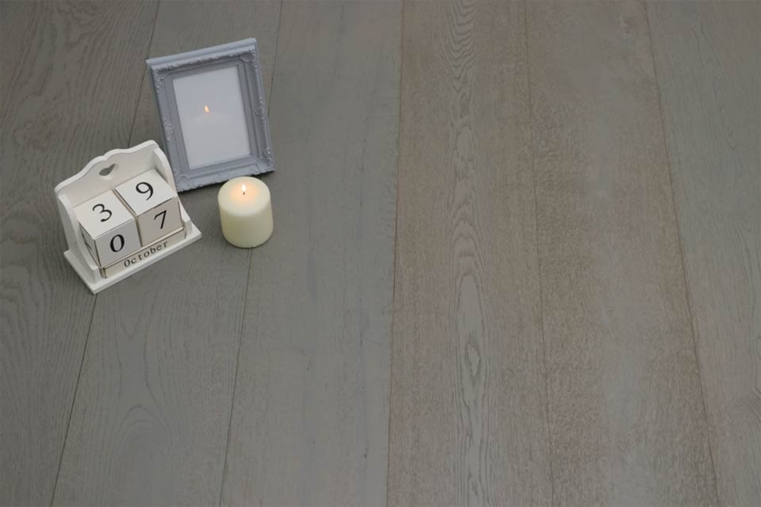 Select Engineered Flooring Oak Click London Grey Brushed UV Oiled 14/3mm By 190mm By 1860mm