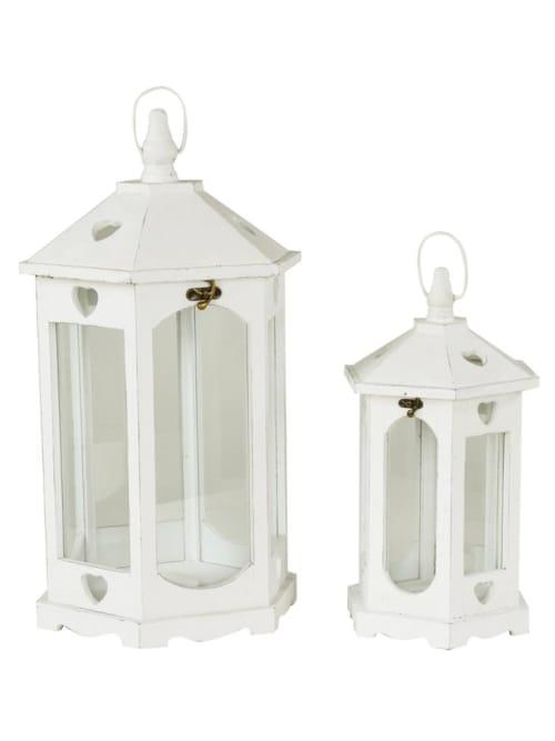 Lanterna in legno con piccoli cuori shabby chic - Lorenzongift