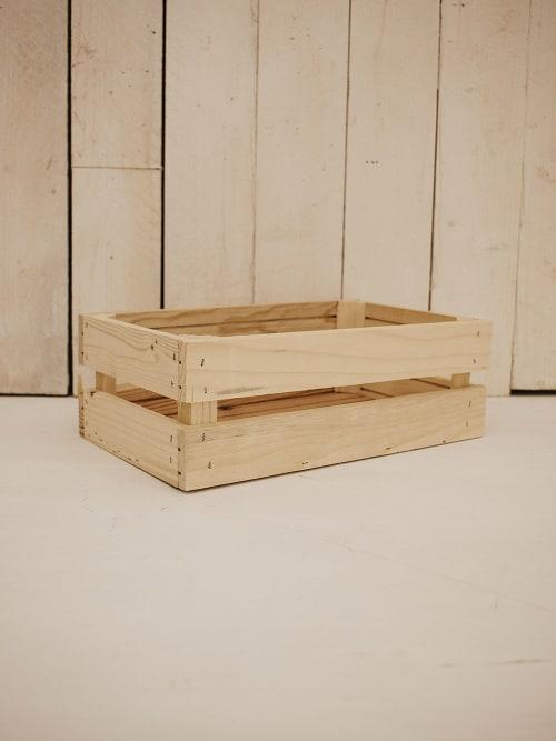 Cassetta in legno, colore naturale, rettangolare